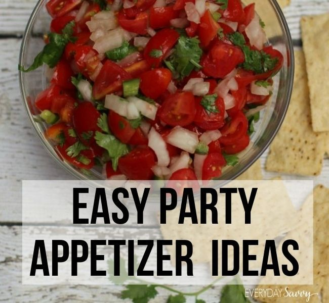 Easy Party Appetizer Ideas - salsa pico de gallo