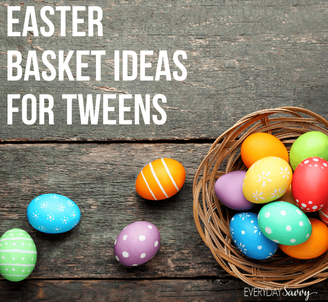 easter basket ideas for tweens - Easter eggs and basket