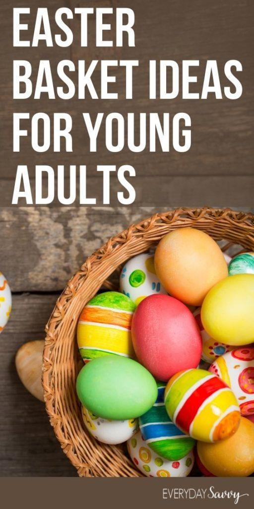 Easter Basket Ideas for Young Adults - Easter basket with eggs