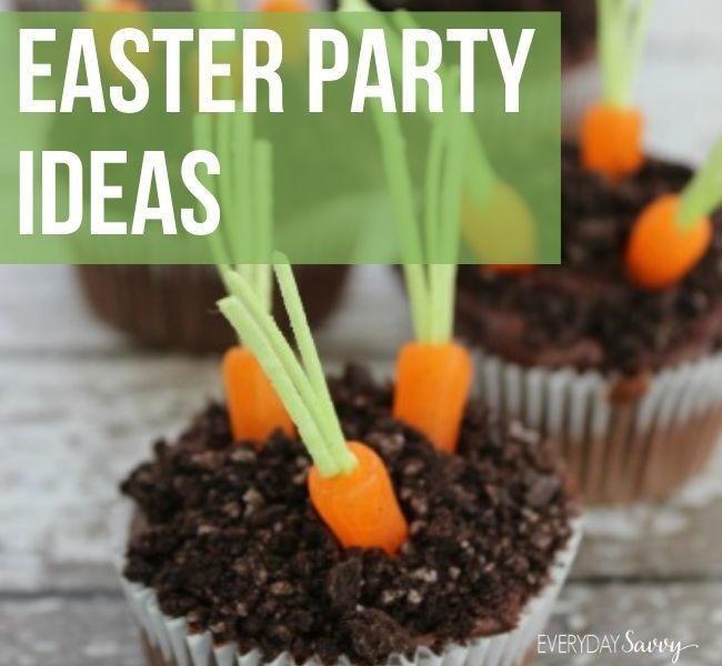 Easter Party Ideas - cupcakes 0 with candy carrots