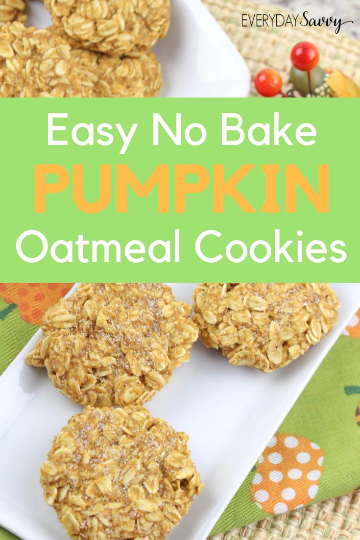 no bake pumpkin cookies with oatmeal