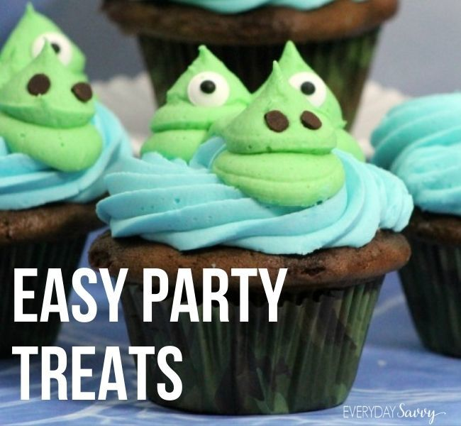 Easy Party Treats - alligator cupcake