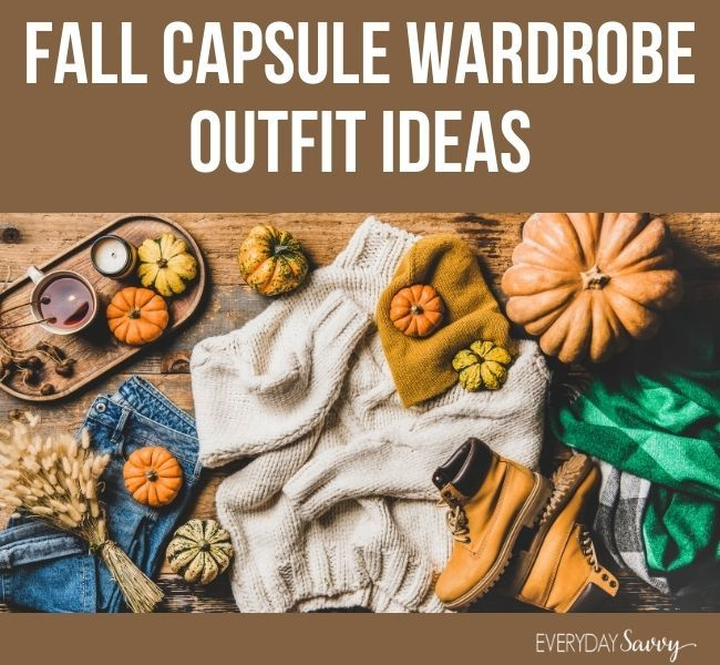 fall capsule wardrobe outfit ideas - fall outfit with pumpkins