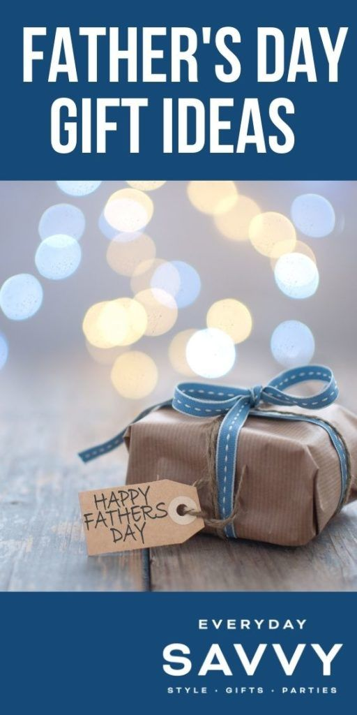 Father's Day Gift Ideas - wrapped gift with tag that says Happy Fathers day