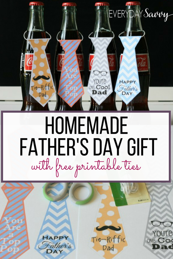 printable neckties with cute Father's Day sayings