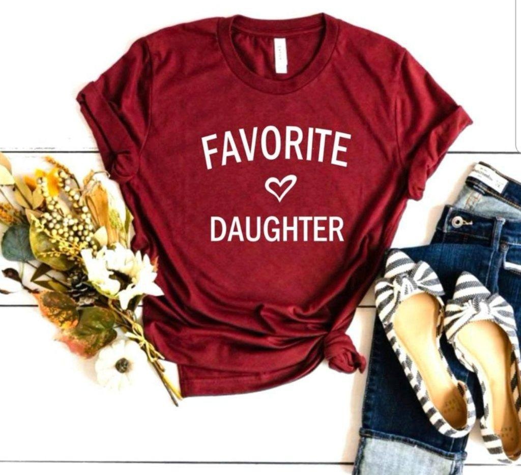 Favorite Daughter Tee Shirt with Heart