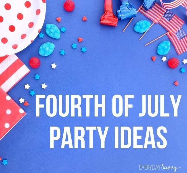 Fourth of July Party Ideas - American flags, candy stars