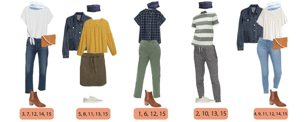 fall styles for Gap that mix and match  includes coordinating masks