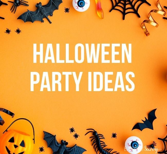 Halloween Party Ideas - jack o lantern , bats , spiderwebs