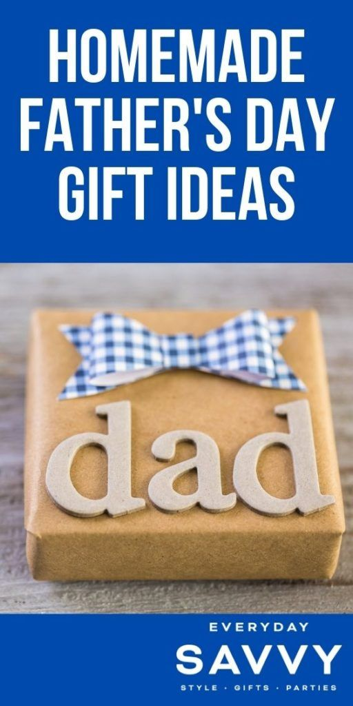 Homemade Father's Day Gift Ideas - wrapped present that says dad