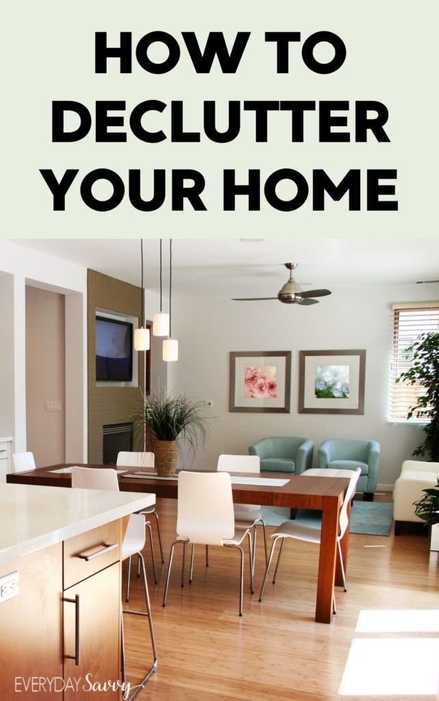clean organized decluttered home - how to declutter your home