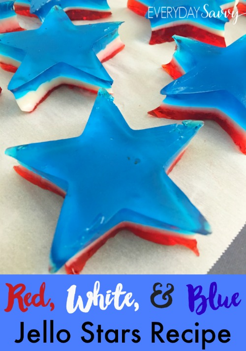 red white and blue jello stars