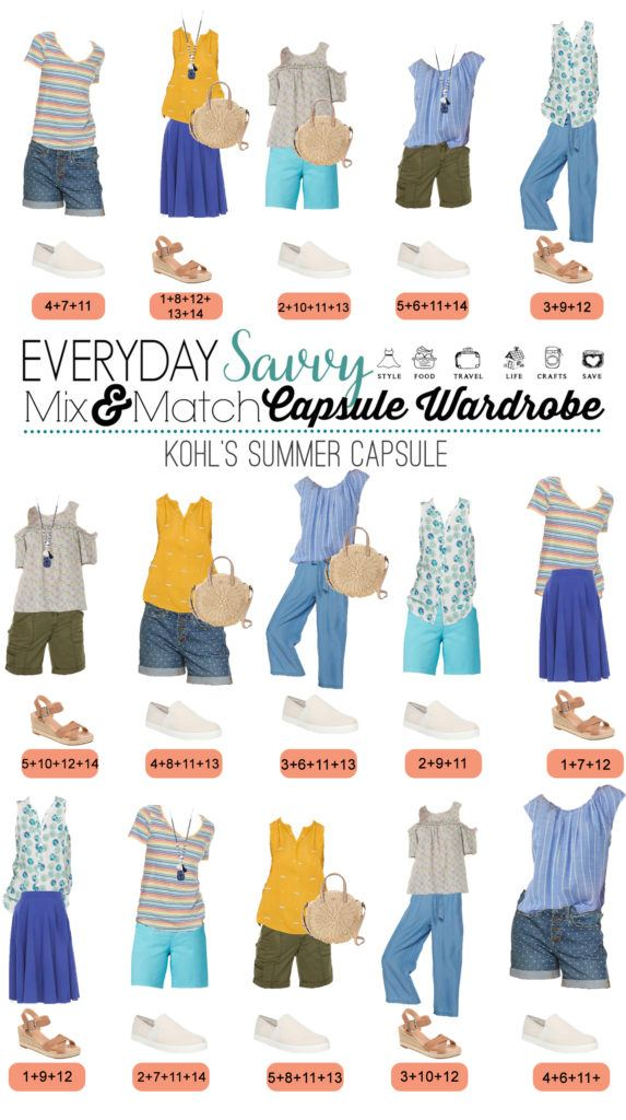 Casual Summer Outfits for Women - 15 outfits that mix and match