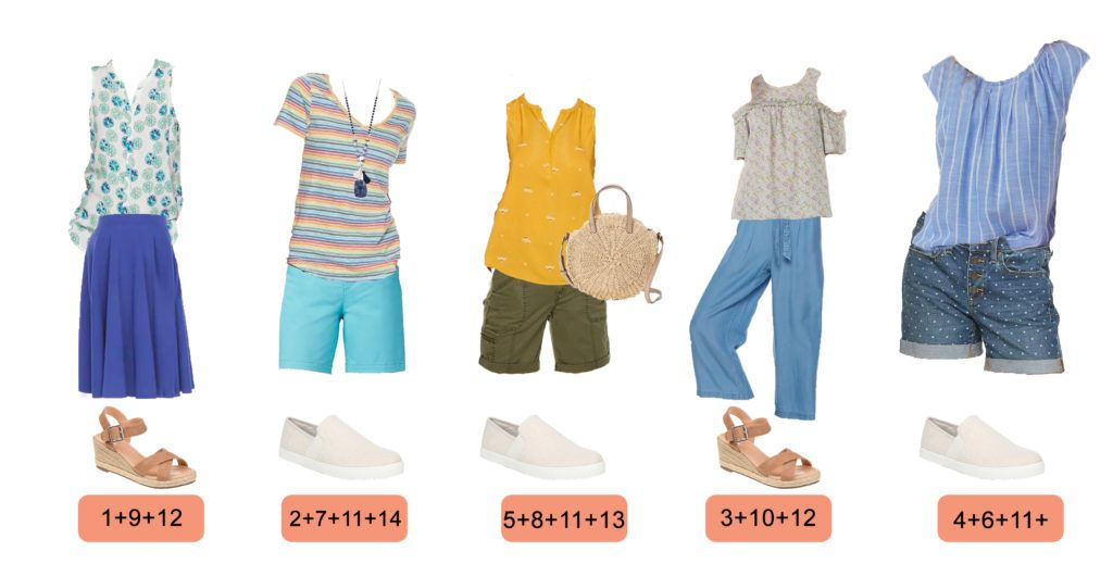 Casual Summer Outfits for Women - 5 outfits that mix and match