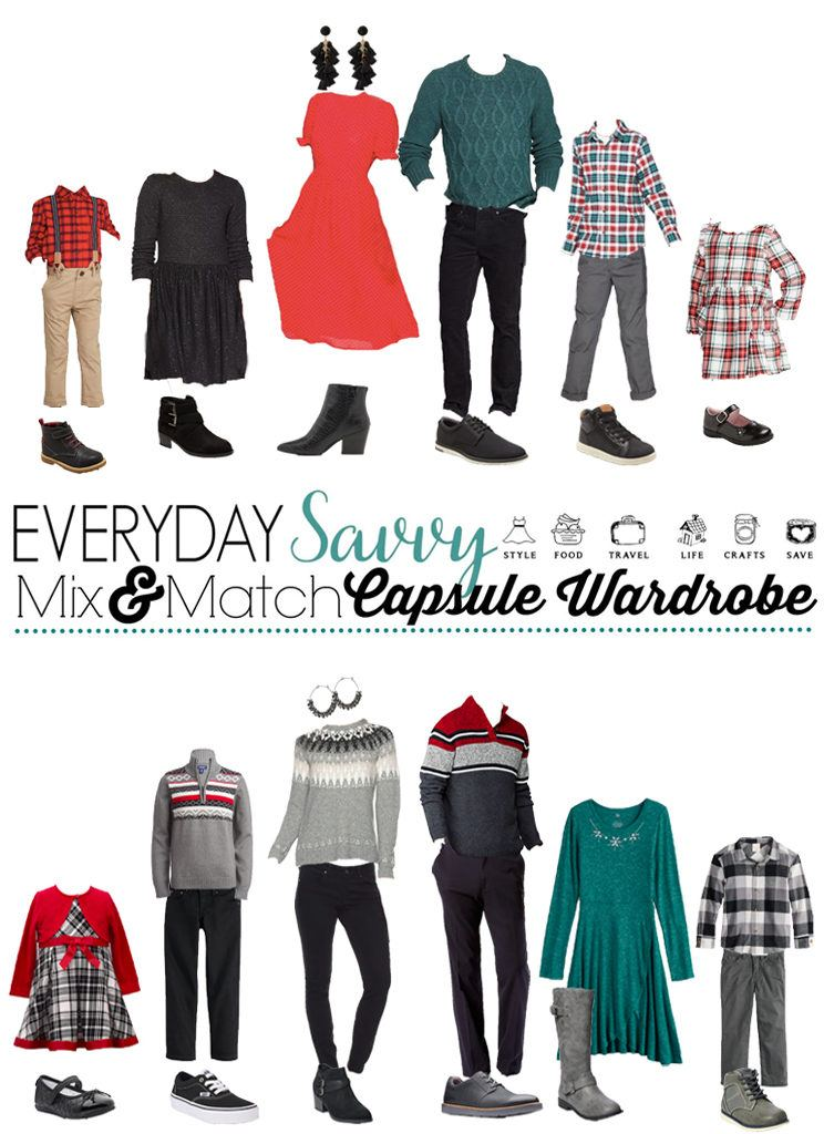 family Christmas picture outfits - both dressy and casual