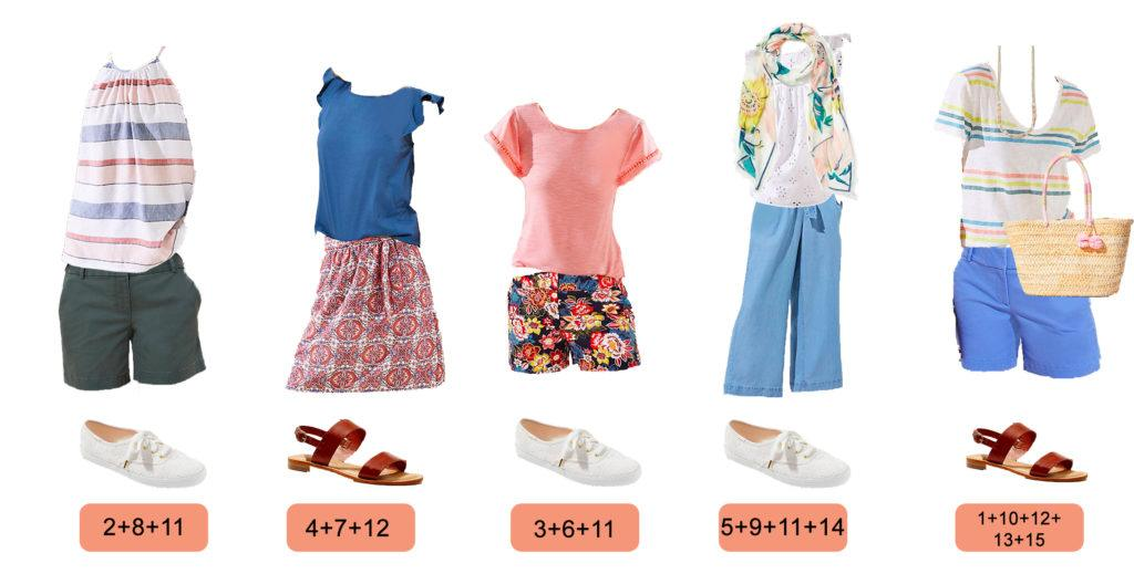 stripe halter top, floral scarf, pom pom straw bag cute summer outfits for women