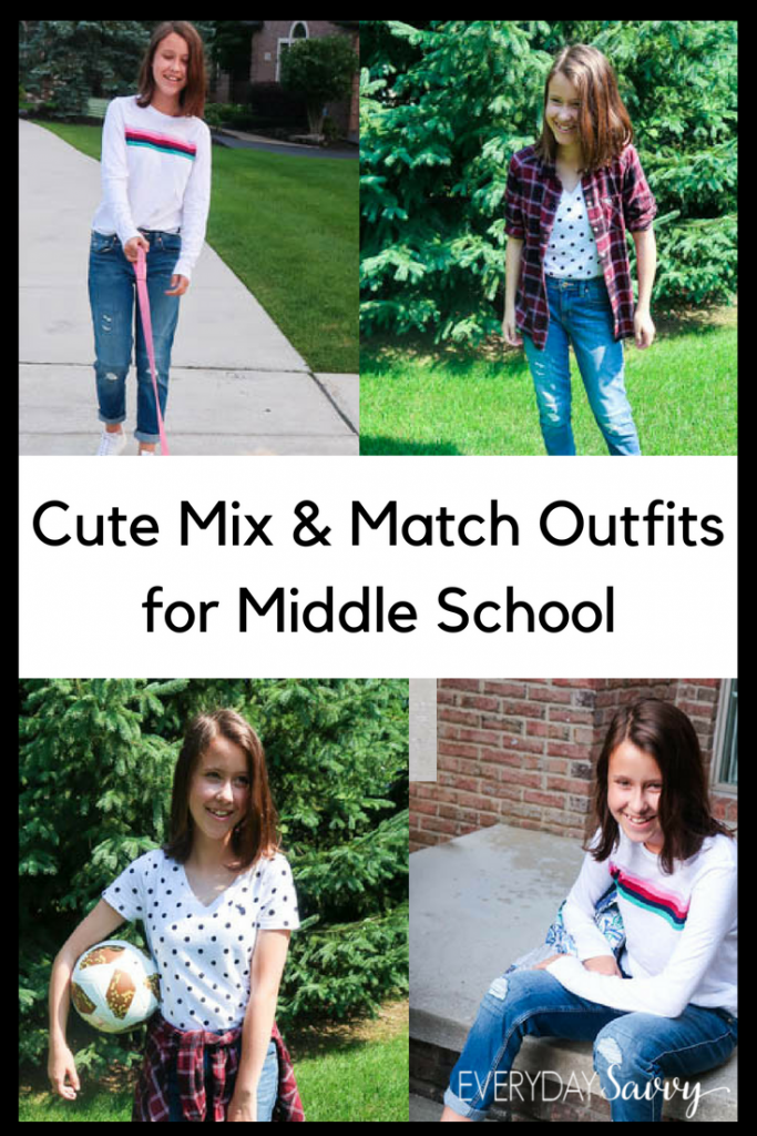 cute middle school outfits for girls