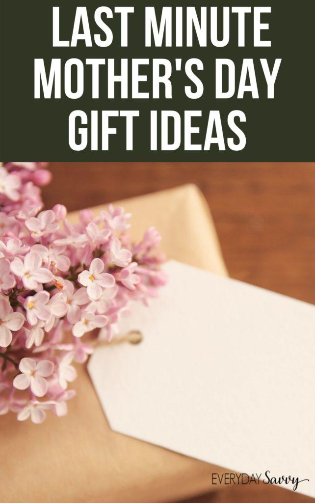 mother's day gift ideas last minute - present with flowers on top
