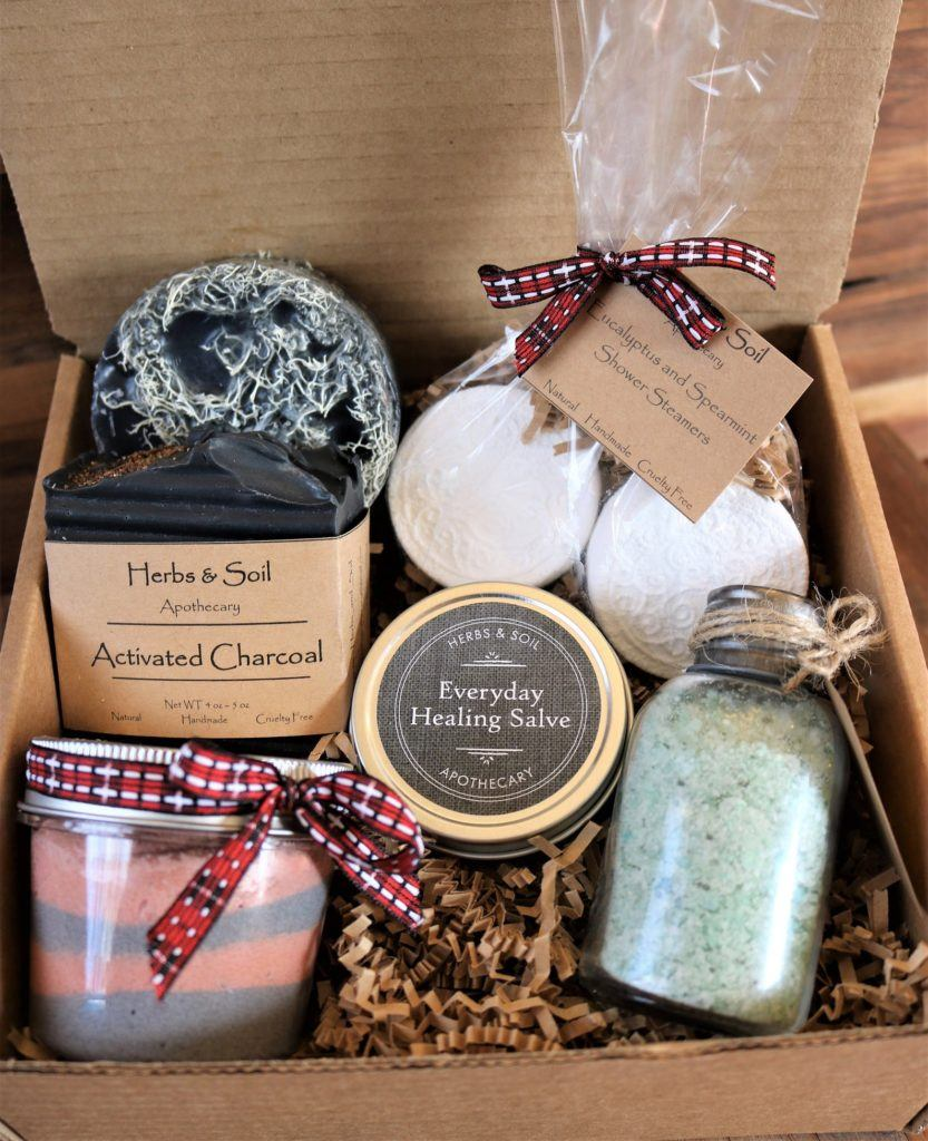 Natural skin care gift box for men