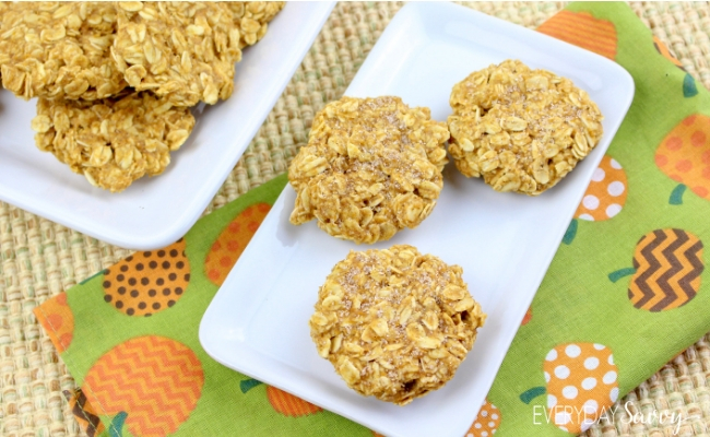 easy pumpkin spice no bake cookies