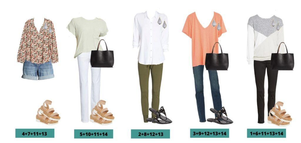 5 Mix & Match Nordstrom Spring Capsule Wardrobe Outfit Ideas