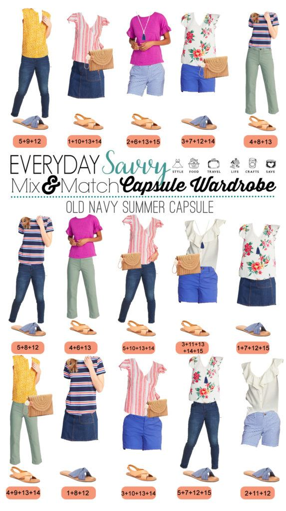 cute summer mix and match outfits for women