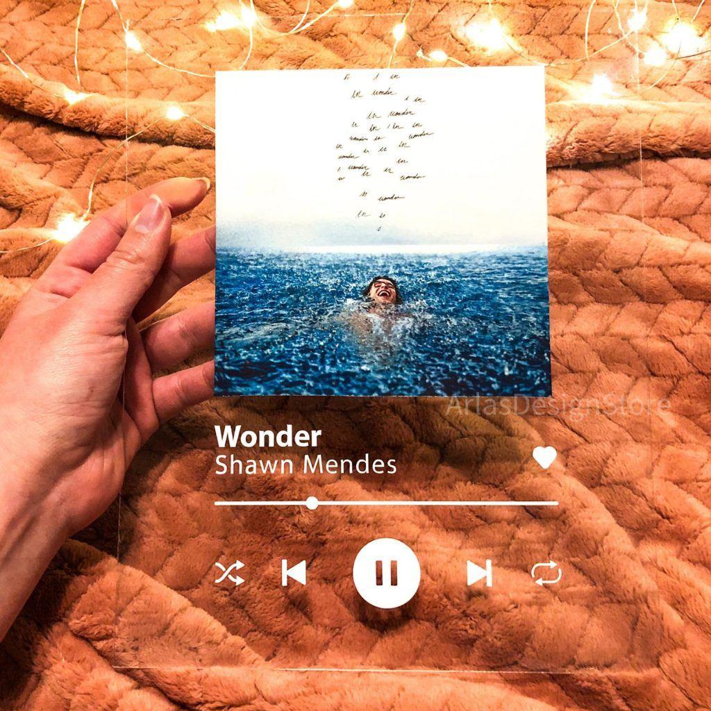 personalized plexiglass song plaque - wonder shawn mendes