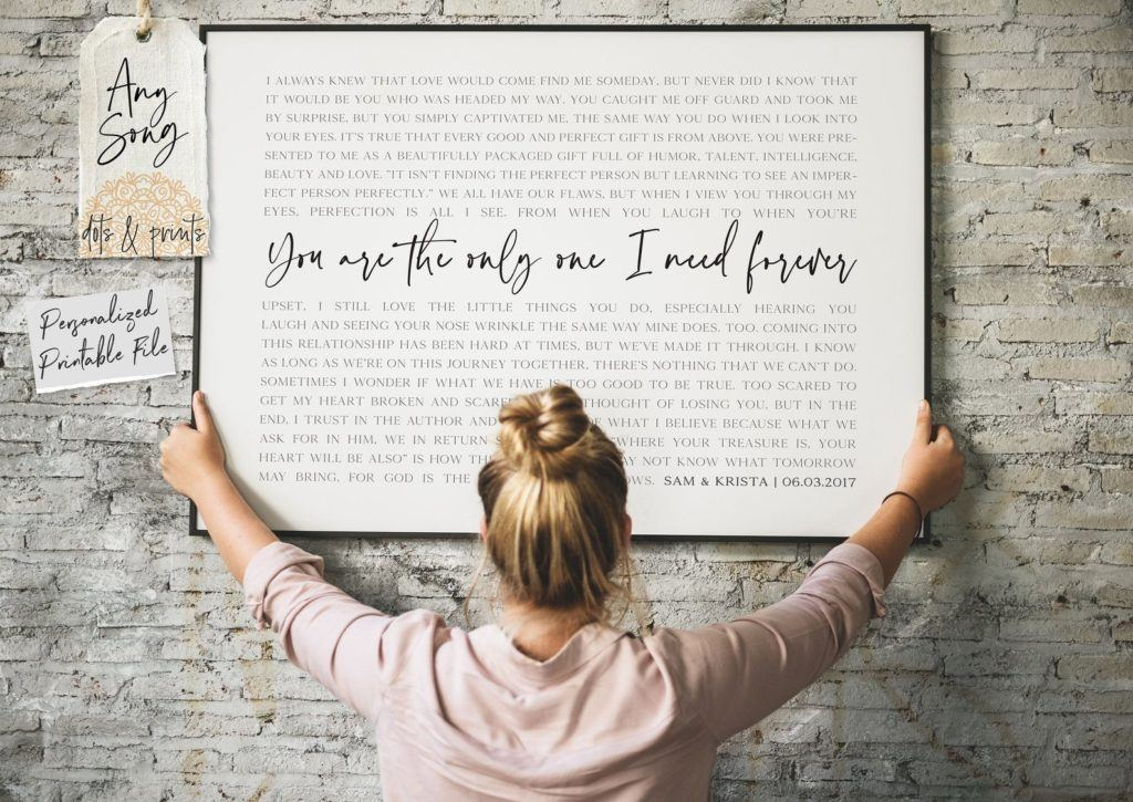 song lyric wall art