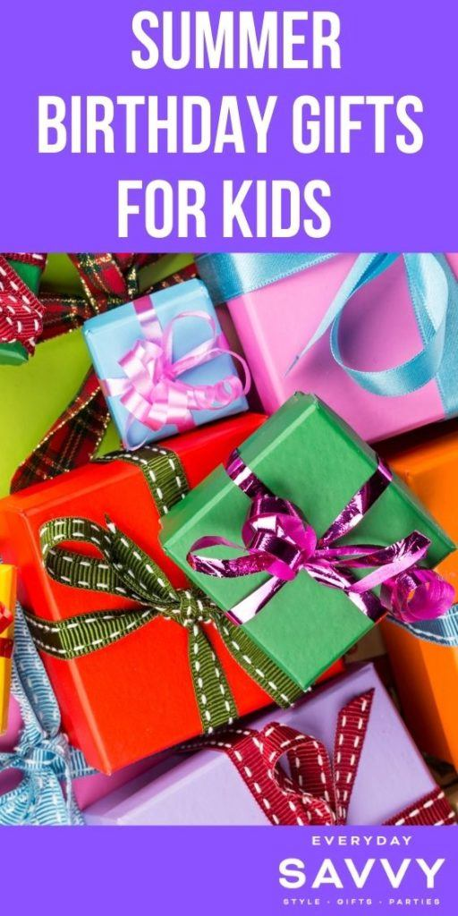 Summer Birthday Gifts for Kids - wrapped presents