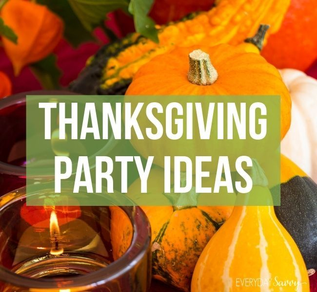 Thanksgiving Party Ideas - pumpkin, gourds, candle