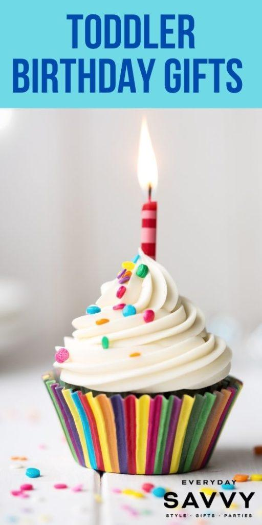 Toddler Birthday Gifts - Cupcake with one candle