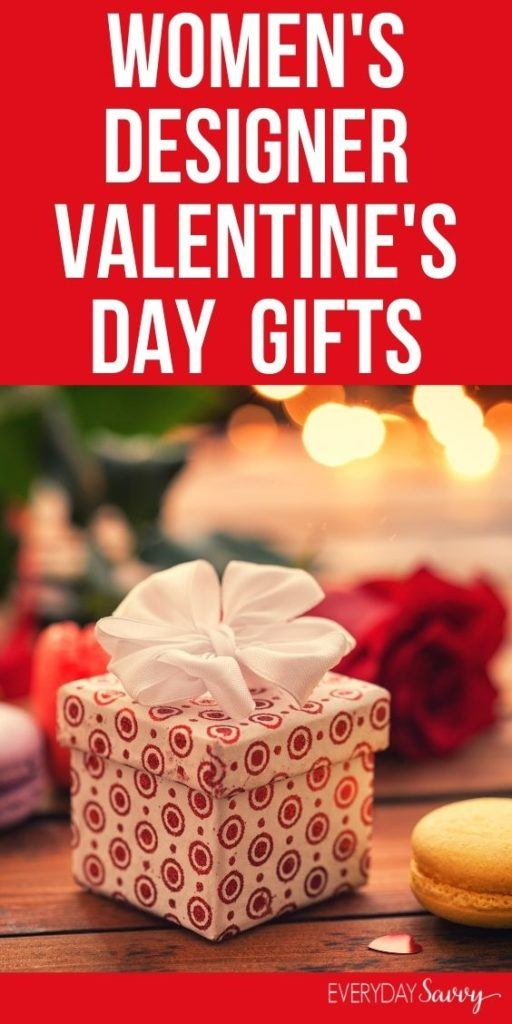 Women's Designer Valentine's Day Gifts - wrapped present with bow and roses